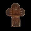 Крест дер.нательный резной на гайтане