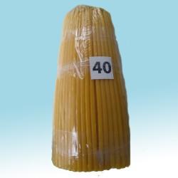 Свечи парафиновые Конусные 40 (200шт)  26см, диаметр  100 мм 2кг