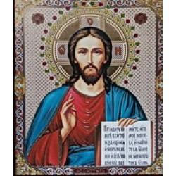 Спаситель 15х18 ЛИК С КАМНЯМИ