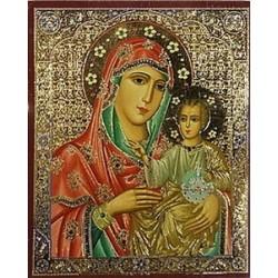 Иерусалимская красная Св. Лики полиграф,6,0х7,3см упаковка 100 шт