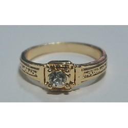 Кольцо с камнем К упаковка 20 шт желтое