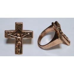 Кольцо Печатка с крестом 1