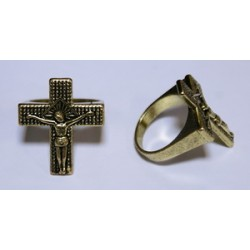Кольцо Печатка с крестом 2
