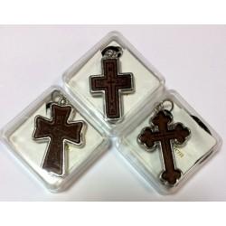 Крест кожаный в коробочке С
