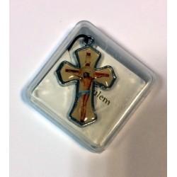 Крест метал. в коробочке С