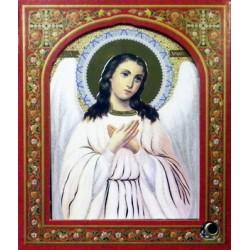 Ангел Хранитель ( поясной ) 10х12 ДВП С КАПСУЛОЙ
