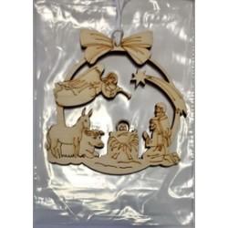 Вертеп1 7 х8 см (Кор) сувениры из фанеры
