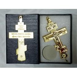 Кресты металлические SV13   (12 х 6,5 см (зол. цв.))Сувенирные КИТАЙ БЕЗ УПАКОВКИ