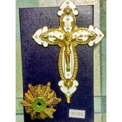 Крест металлический КР 135 Белая и Синяя эмаль