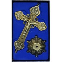 Кресты металлические КР 16 (бронз. ЗЕЛ. цв.)