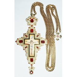 Наградной крест б. с красн.и бел.кам.