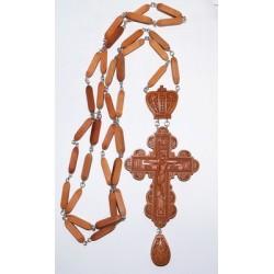 Наперсный  наградной крест  с цепочкой 6 дерево груша