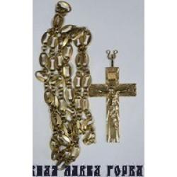 Крест Наградной Сербия НК 15 позолота