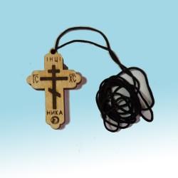 Крест дер. Вызженный фигурный упаковка 100 шт