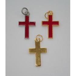 Крест с эмалью А6425