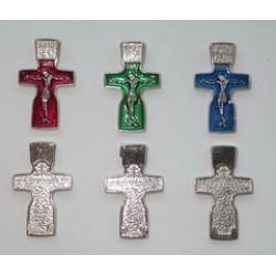 Крест Федоровский 1 c эмалью 059-1, упаковка 1000шт