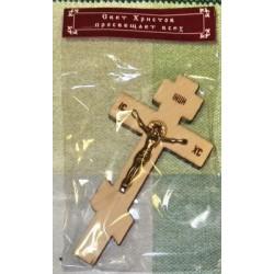 Крест малый дерев. распятье прямой