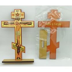 Крест распятье, дерево 1 (полигр.)  на подставке