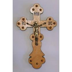 Крест распятье, дерево 3 (фигурный)