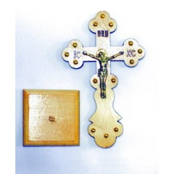 Крест распятье, дерево 3 (фигурный) на подставке