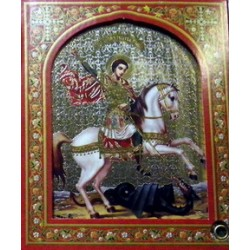 Георгий Победоносец на коне ДСП15х18  С  КАПСУЛОЙ