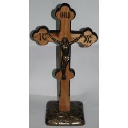 Крест фигурный распятье, дерево на подставке Ш