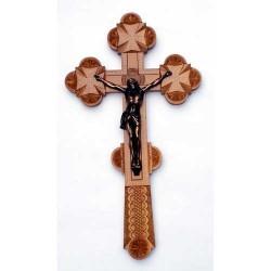 Крест распятье, дерево резной 30-17см груша Кра