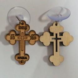 Крест Прорезанный с присоской в асссорт  упаковка 100 шт
