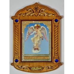 Ангел Хранитель Иконы дерев.под оргстеклом с ладаном