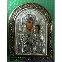 Икона  в ризе пл. 7,5х10,5 см Иерусалимская