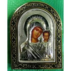 Икона  в ризе пл. 7,5х10,5 см Казанская