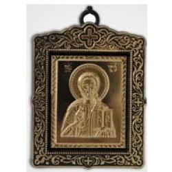 Икона пл.с метал. изображением квадратная Спаситель
