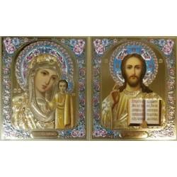 Ангел Хранитель квадратная Икона в рамке РИЗА 6*7,5