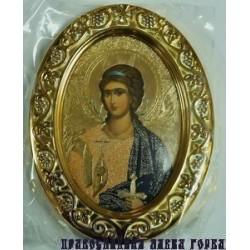 Ангел Хранитель Овальная Икона в рамке РИЗА  7*5,5