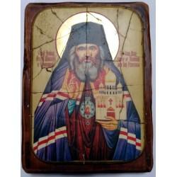 Иоан Шанхайский Икона  Греческая под старину ФРЕСКА 17х23