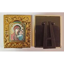 Казанская квадратная Икона в рамке РИЗА  6*7,5