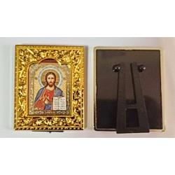 Киприан и Иустиния квадратная Икона в рамке РИЗА 6*7,5