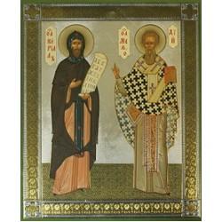 Кирилл и Мефодий икона на оргалите 18х24