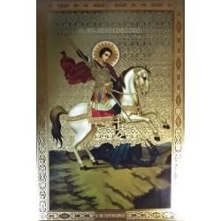 Георгий на коне Лик БРОНЗА 20*30