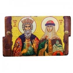 Владимир и Ольга Икона  Греческая под старину 170х230 двойная