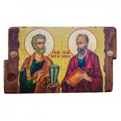 Петр и Павел Икона  Греческая под старину 170х230 двойная
