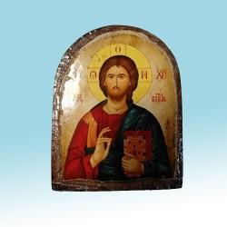 Спаситель Икона  Греческая под старину Арка ФРЕСКА 7х10