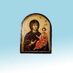 Одигитрия Икона  Греческая под старину Арка  ФРЕСКА 13х17