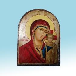 Казанская Икона  Греческая под старину Арка ФРЕСКА 17х23