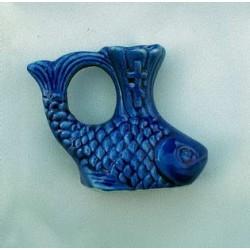 Керам. подсвечник Рыба 5см. цветной