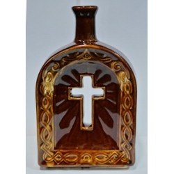 Бутылка керам.коричневая Крест Г