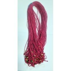 Нить на закрутке К 70 см розовая в уп 100шт