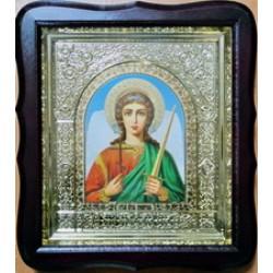 Ангел Хранитель Арка Киот Д дер.фигурный пл.вставка 15х18 17Ф