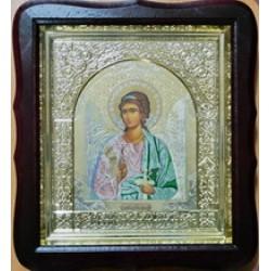 Ангел Хранитель Софр.цвет Киот Д дер.фигурный пл.вставка 15х18  17Ф