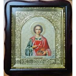 Пантилиймон Киот Д  дер.фигурный пл.вставка 15х18  17Ф